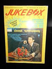 JUKEBOX MAGAZINE N° 9 SERGE GAINSBOURG, CREEDENCE,...1986