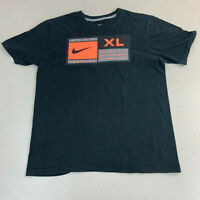 Nike T-shirt Mens Medium Training Black Short Sleeve Casual