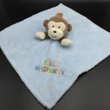 Baby Gear Silly Monkey Blue Security Blanket Lovey Brown Tan