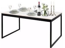 Esstisch Küchentisch Tisch Esszimmer Küche Büro 90 x 160 cm Kiefer Metall weiß