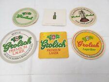 6 X VINTAGE GROLSCH BEER MATS HOLLAND DUTCH NETHERLANDS LAGER BIER