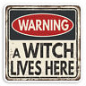 2 x 10cm Witch Warning Vinyl Stickers - Witches Joke Funny Laptop Sticker #31632