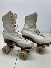 Vintage 50's Official ROLLER DERBY Roller Skates Wood Wheels