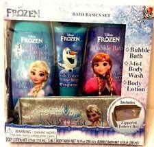 Disney Frozen Complete Bath Set With Toiletry Bag Winter Berry Fragrances New