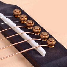 6Pcs Brass Bridge Pins For Acoustic Guitar Replacement Instrument Parts Golden