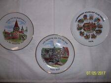 Vintage Collectible Plates, Set of 3, 7 1/2 inches across, German
