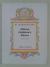 DMITRI KABALEVSKY FIFTEEN CHILDREN'S PIECES Op. 27 PIANO SOLO