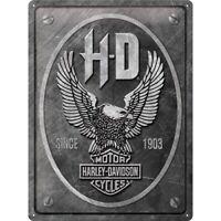 Blechschild HARLEY DAVIDSON Metal Eagle 30x40cm gewölbt geprägt Biker Schild USA