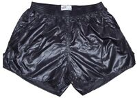 Black Shiny Nylon Shorts by Soffe - Size Large