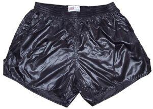 Black Shiny Nylon Shorts by Soffe - Size Large