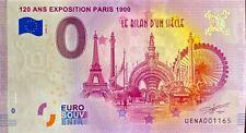 BILLET 0 ANS EXPOSITION PARIS 1900 FRANCE 2020 NUMERO DIVERS