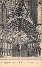 BR72961 bourges ensemble du porche de la cathedrale   france