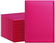 Hblife 6x10 Inches Poly Bubble Mailers Self Seal Hot Pink Padded Envelopes Pack