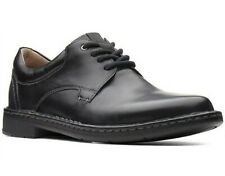 NEW MENS CLARKS COLLECTION GADSON PLAIN BLACK OR BROWN OXFORD LACE UP SHOES
