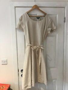 Beige 100% linen short sleeved dress from Lands End. Never worn