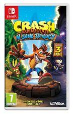 Crash Bandicoot N. Sane trilogía inglés Importado Región Libre-Nintendo Switch