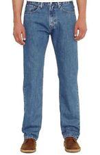 New Levi's Mens 505 4891 Regular Fit Straight Leg Stonewash Denim Jeans 38 X 30