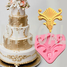 Vintage Relief Embossed Silicone Fondant Mould Cake Decor Icing Sugar Paste Mold