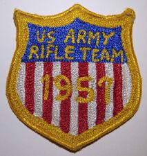 US Army Rifle Team Chainstitch Jacket Patch - US Shield 1957