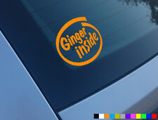 GINGER INSIDE FUNNY CAR STICKER DECAL JDM JAP DUB VW VAN BUMPER DRIFT JOKE VINYL