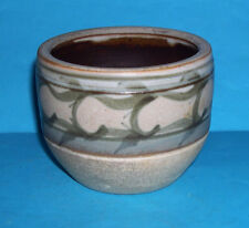 Waterside Crafts Studio Pottery -Attractive Subtle Banded Glaze On Natural (M.M)
