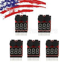 5PCS 2 In1 Lipo Battery Low Voltage Alarm 1-8S Buzzer Indicator Checker Tester