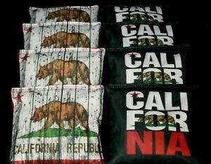 Custom CALIFORNIA REPUBLIC FLAG 8 ACA Regulation Cornhole Bean Bags