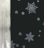 80cm Clear Snowflake Cellophane Film Christmas Florist Gift Wrap Hamper X-MAS
