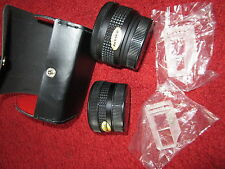 Danubia Aux Telephoto Lens + Wide Angle Lens im Etui 48mm Gewinde