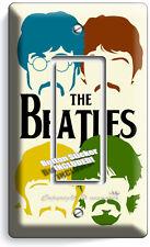 THE BEATLES POP ART JOHN GEORGE PAUL RINGO SINGLE GFCI LIGHT SWITCH COVER DECOR