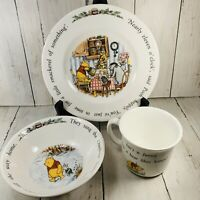 Royal Doulton Disney  Winnie the Pooh Isn't It Funnny Plate Saucer & Cup Set Vtg