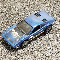 Hot Wheels 1977 Ferrari GTB 308 Race Bait Blue Car Vintage 1:64 Diecast