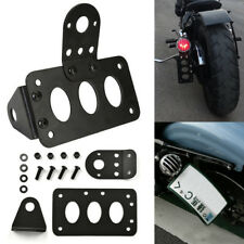 New Useful Side Mount Motorcycle License Iron Plate Number Plate Bracket UK