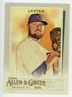 2020 Topps Allen & Ginter #272 JON LESTER Chicago Cubs RARE BASE BASEBALL CARD