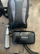 Olympus Infinity Stylus 35mm Point & Shoot Film Camera Tripod & Battery Tested