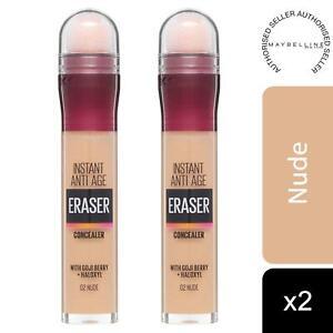 2 Pack Maybelline Instant Age Rewind Anti Age Eraser Eye Concealer, 02 Nude