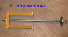 PLANS for Massey Ferguson Diesel Engine Sleeve Cylinder Puller - Perkins PLANS