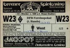 Ticket DFB-Pokal 83/84 Werder Bremen - Darmstadt 98 + Stuttgarter Kickers
