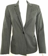 JOSEPH 100% fine wool black grey striped tailored suit jacket,size M/L