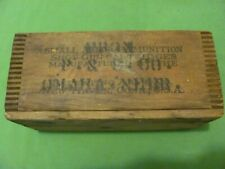 "Vintage Winchester Wooden Ammunition Box 12 3/4"" X 6 1/4"" X 5 1/2"""