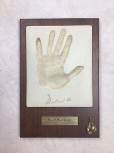 Muhammad Ali Hand Print Signed Plaque