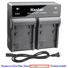 Kastar Battery AC Rapid Charger for Sony NP-QM91D & Cyber-shot DSC-F828 DSC-R1
