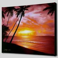 Jon Rattenbury Sea of Paradise Ltd Ed.Giclee on Canvas-# 173/395 Signed w/COA