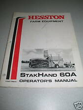 Hesston 60A StakHand Operator's Manual