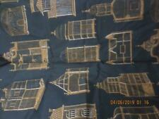 2 yds Schumacher Fabric Cage a Oiseaux Screen print Cotton Victorian Bird Cages