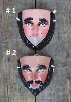 Sm Sz Traditional Parachico Carved Wood Mask Hand Carved Chiapas Mexico Folk Art