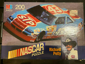 "Nascar 1990 Richard Petty 200pc Puzzle MB 12 1/8"" x 16  4156-3"