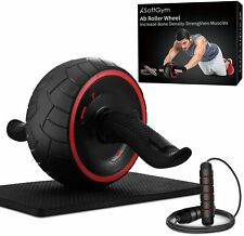 Ab Roller for Abs Exercise Workout Fitness -Ab Wheel Roller with Knee Mat and Ju