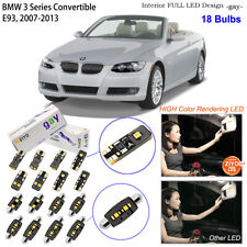 18 Bulbs Deluxe LED Interior Light Kit White For E93 BMW 3 Series Convertible