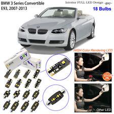 18 Bulbs Deluxe LED Interior Light Kit White For E93 BMW 3 Series Convertible